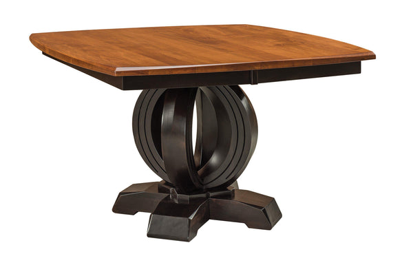 Saratoga-Single- pedestal Table-The Amish House