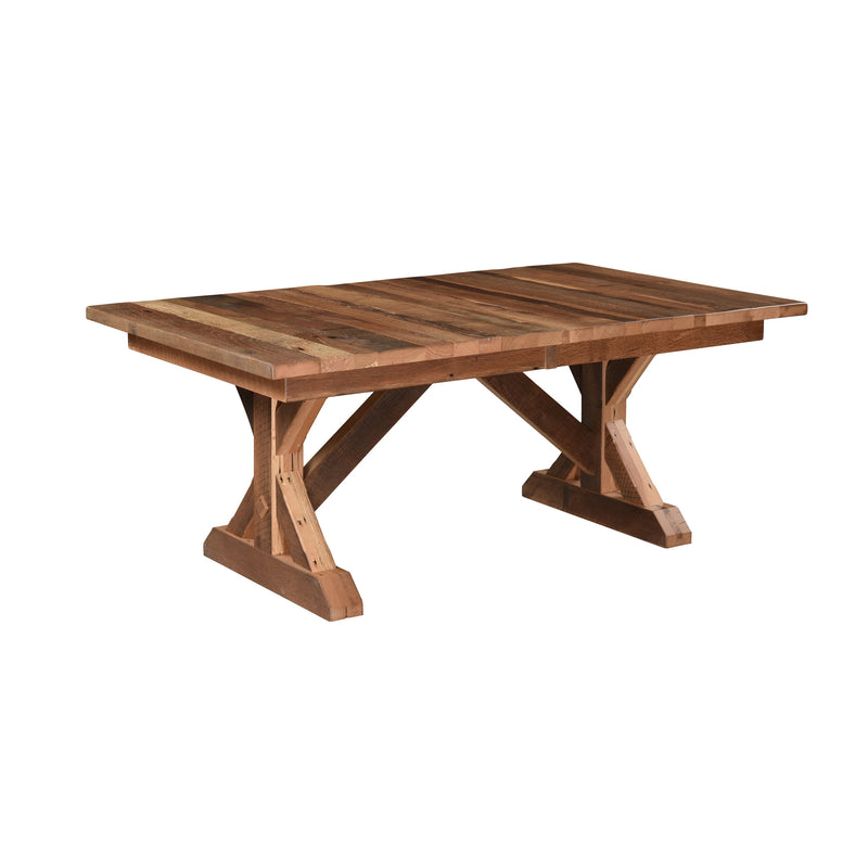 Stratford Rustic Dining Table with leaf option