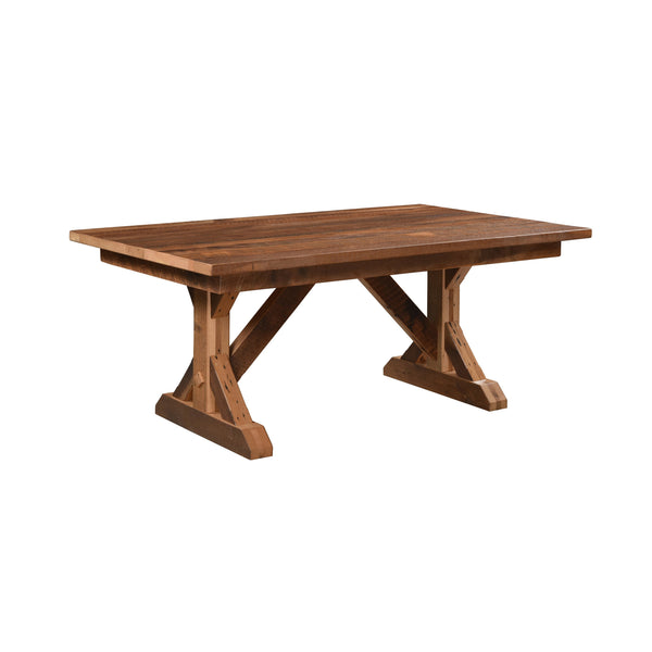 Stratford Solid Top Rustic Dining Table