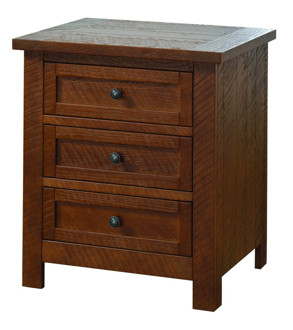 Amish Timberlake Three Drawer Nightstand