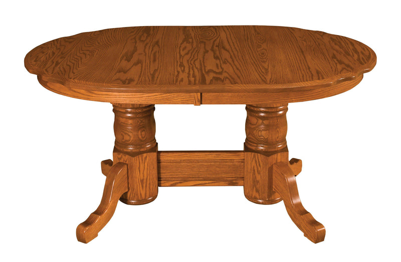 Traditional Double Pedestal-Table-The Amish House