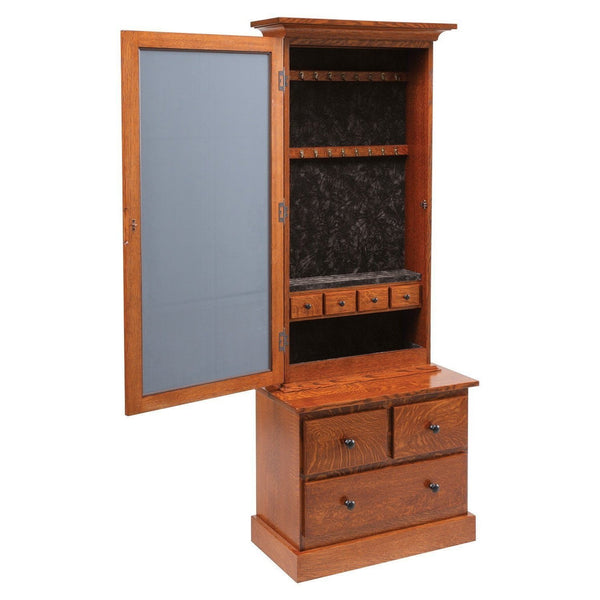 Weston Shaker Jewelry Armoire-Bedroom-The Amish House