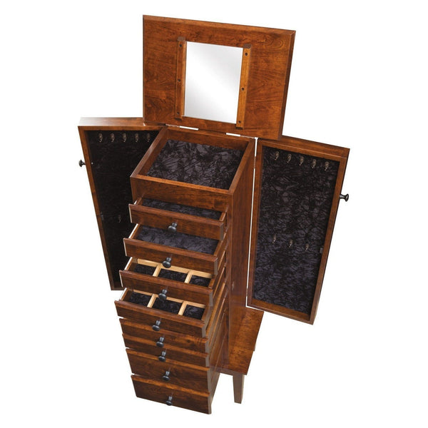 Winged Mill Shaker Jewelry Armoire-Bedroom-The Amish House