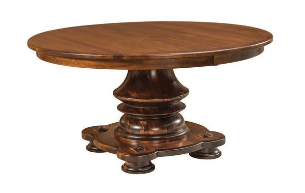 Woodmont-pedestal Table-The Amish House