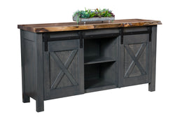 Xavier Live Edge Wood Top Sideboard-The Amish House