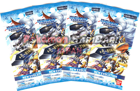Digimon Trading Card Game - 4 Packs of NEW EVOLUTION [BT-01]