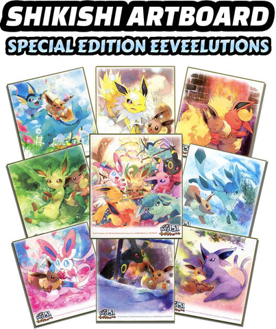 Pokemon Shikishi Art Board Special Edition Eeveelutions Break #3