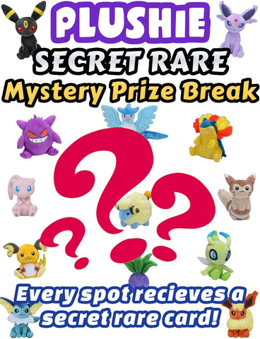 Pokemon Trading Card Game - Plushie SECRET RARE Mystery Prize Break #5 - Every spot receives an ultra rare card!