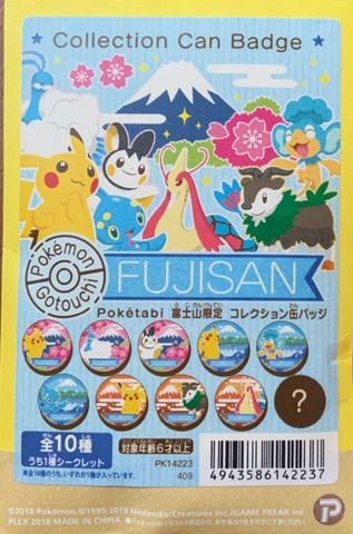 Pokemon Fujisan Collection Pin Badge Break #2