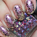 MCKFRESH - Posh on a penn -y Pink to violet shimmer topper with blue dust, pink to orange flakies