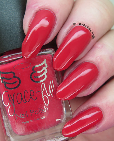 Red Red Rose - a rich red creme with a slight pink undertone