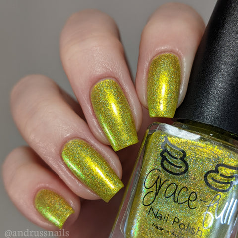 Random - yellow holo with yellow shimmer