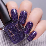 A Million Candles – deep blurple jelly base with silver holo flakes