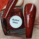 Mulled Wine – a deep red with holo flakes and red metallic flakes