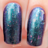 Legolas – a super shifty aurora in green/teal/navy/purple base with UCC flakes