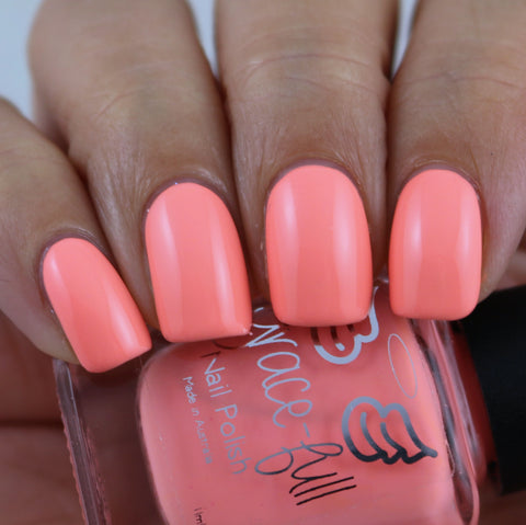 Never Gonna Give - Pastel Fluro Orange creme