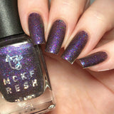 MCKFRESH - Hey Kitty Girl -Blackened purple base with pink shimmer and rainbow sparkle flakies