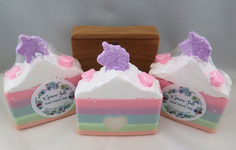 Goat's Milk - Fairy Floss scent - pastel pattern with unicorn details