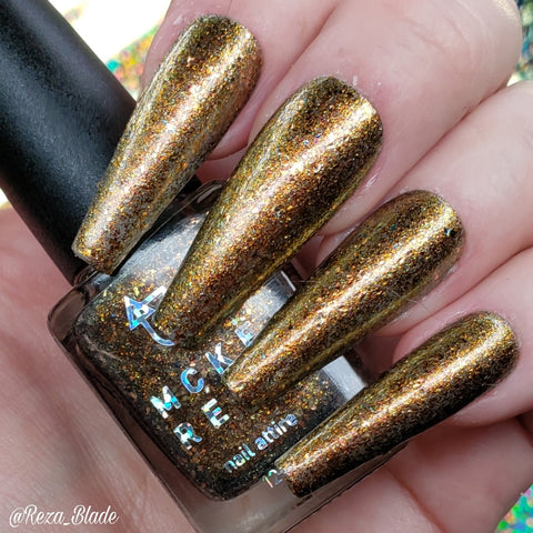MCKFRESH - All That Glitters – bronze, gold & copper flakies and shimmer in a clear base