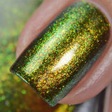 Goblin Gold – olive green base that moves strongly to green and gold