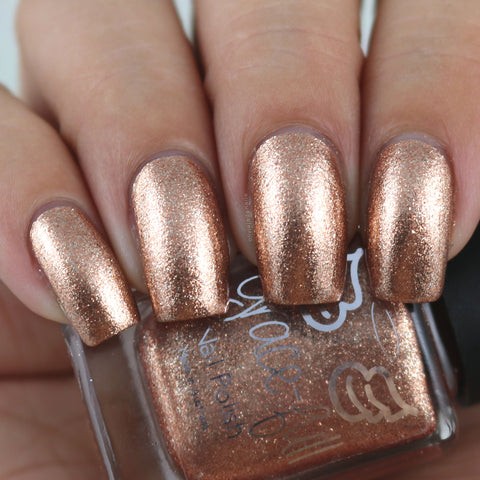 Ginger Ninja – copper metallic flakes with a smattering of silver flakes