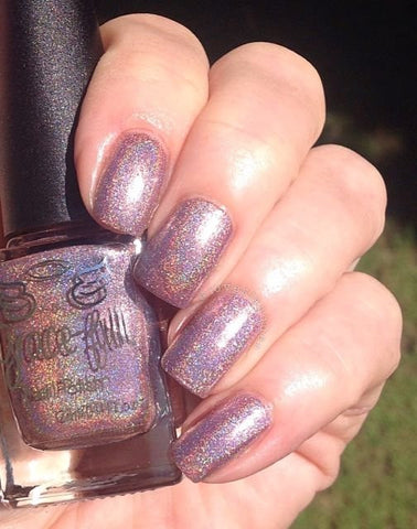 Christmas Rose – a gorgeous Rose Gold holo with shimmer
