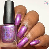 Hair-o-ine - packed with lavender and pink shimmer in a purple orchid linear holo base