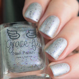 Pensieve – silver holo with blue aurora shimmer and UCC flakies