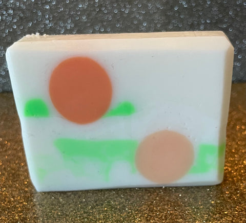 Goat's Milk Soap - Fuzzy Peach  and Brown Sugar scent