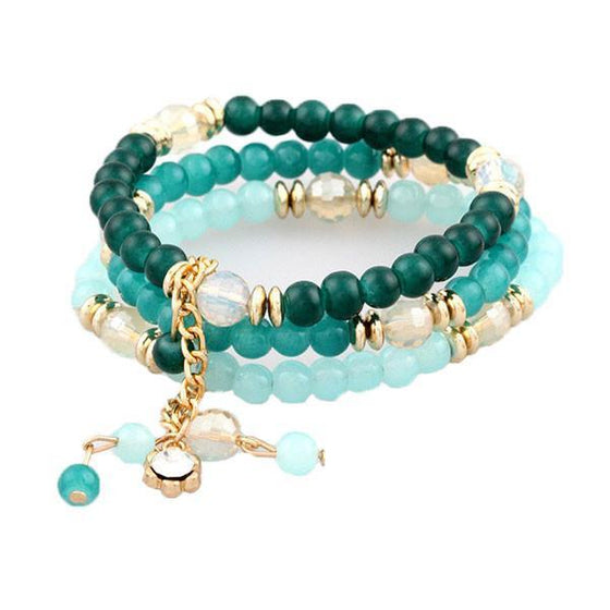 3 Multi Layered Bead Bracelets - SexyBling