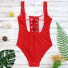 Bandage One Piece Swimsuit - SexyBling