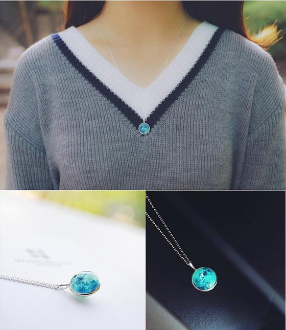 Blue Moon Necklace (Hope) - SexyBling