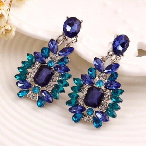 Crystal Bohemian Chandelier Earrings - SexyBling
