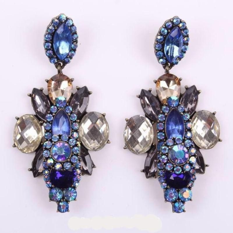 Buy crystal classic chandelier earrings online at lowest price crystal classic chandelier earrings blue by sexybling aloadofball Choice Image