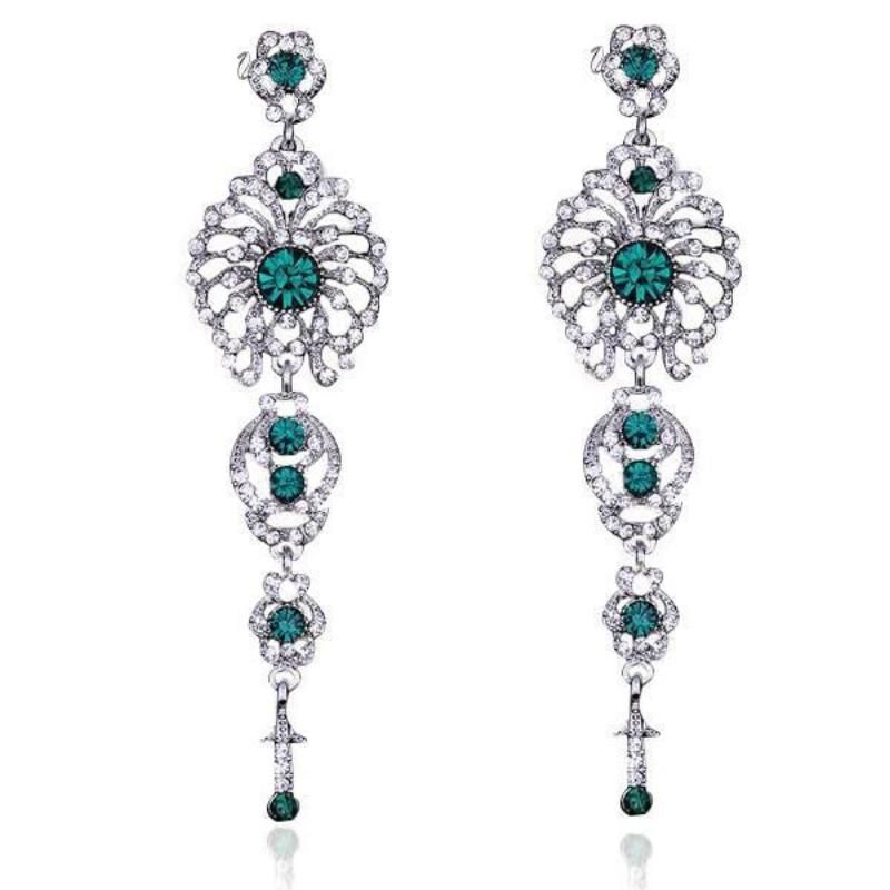 Buy crystal green chandelier earrings online at lowest price sexybling crystal green chandelier earrings undefined by sexybling aloadofball Image collections
