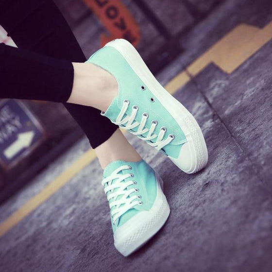 Cute Lace Up Sneakers For Women - SexyBling