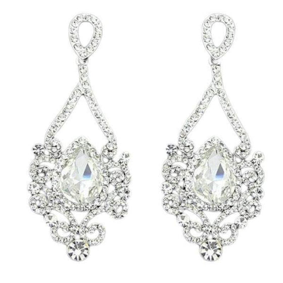 Exquisite Long Crystal Chandelier Earrings - SexyBling
