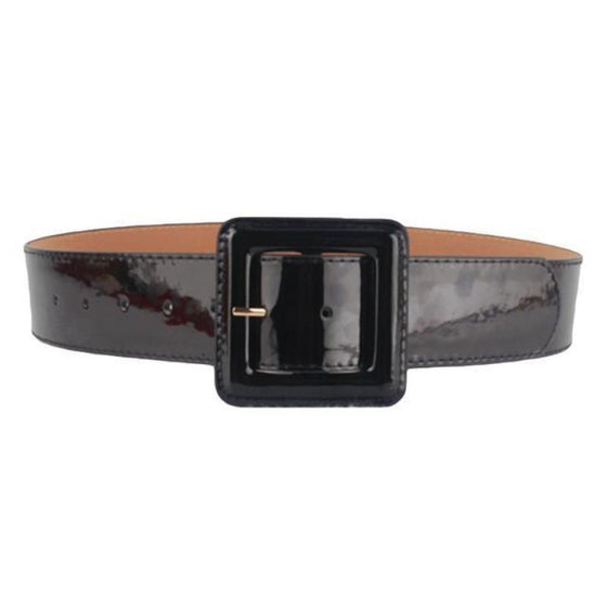 Faux Leather One Size Belt with Pin Buckle - SexyBling