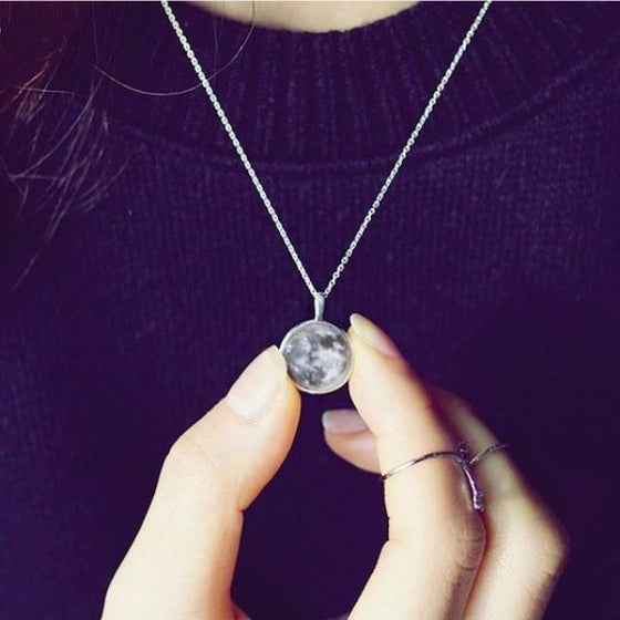 Glow In The Dark Moon Necklace-(OLD)