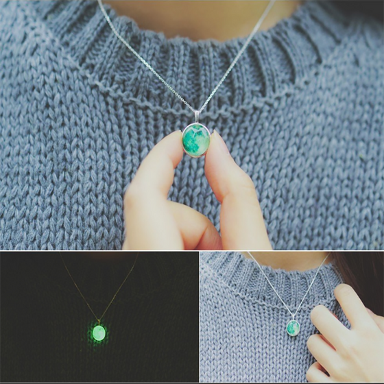 Green Moon Necklace (Healing) - SexyBling
