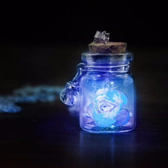 Glow In The Dark Flower Pendant