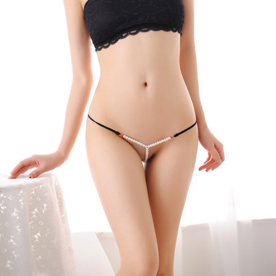 Hot Pearl Flower Low Waist G-String
