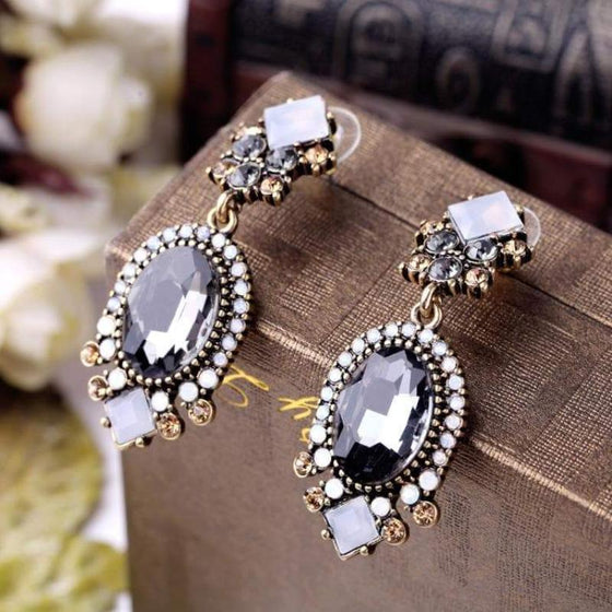 Long Crystal Earrings - SexyBling