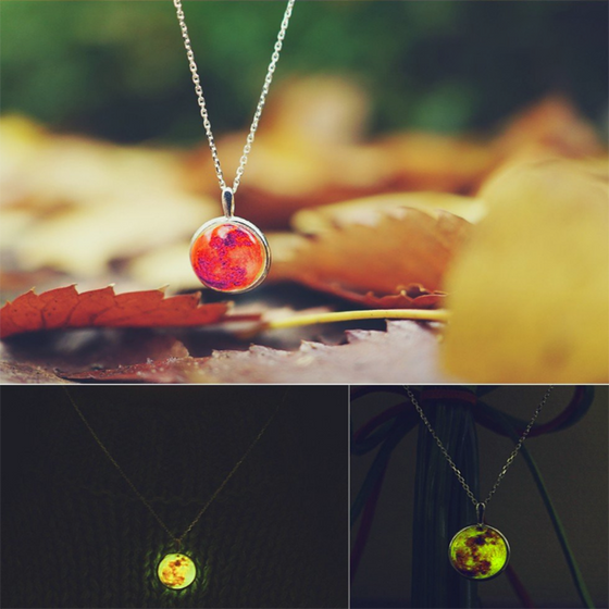 Orange Moon Necklace (Composure) - SexyBling