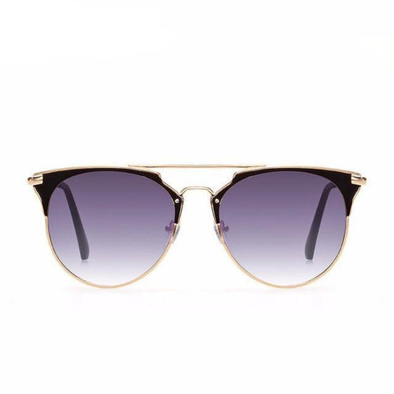 Rose Gold Mirrored Aviators Sunglasses - SexyBling
