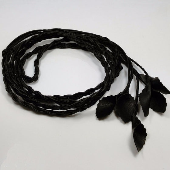 Vintage Leather Leaves Chain Belt - SexyBling