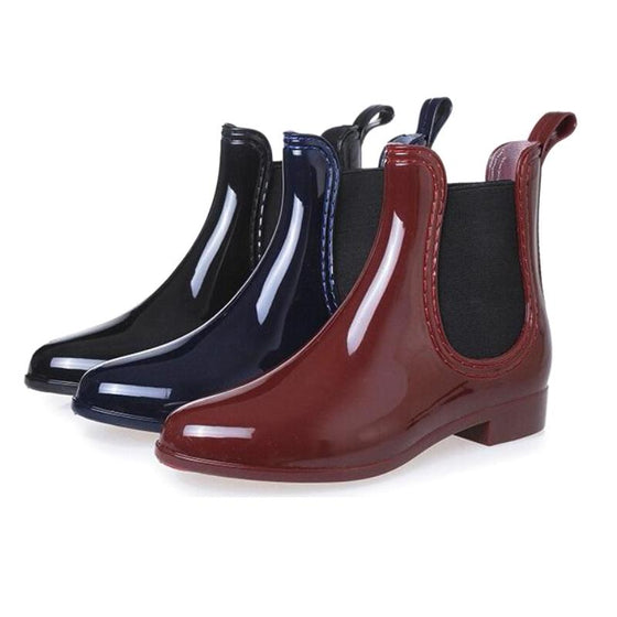 Waterproof Rubber Ankle Boots - SexyBling