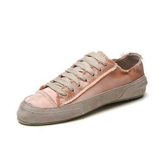 Women's Vintage Lace Up Sneakers - SexyBling