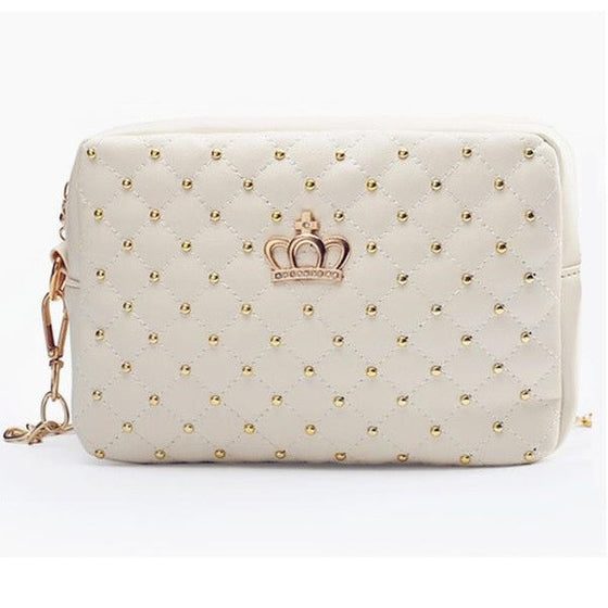 High Quality PU Leather Rivet Chain Shoulder Bag