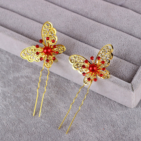 Butterfly Wedding Hairpin
